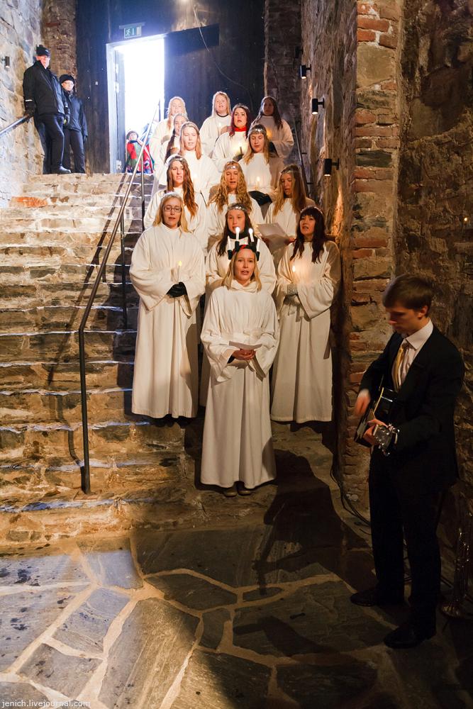 фото, фотография, Савонлинна, крепость, Олавинлинна, день Люсии
