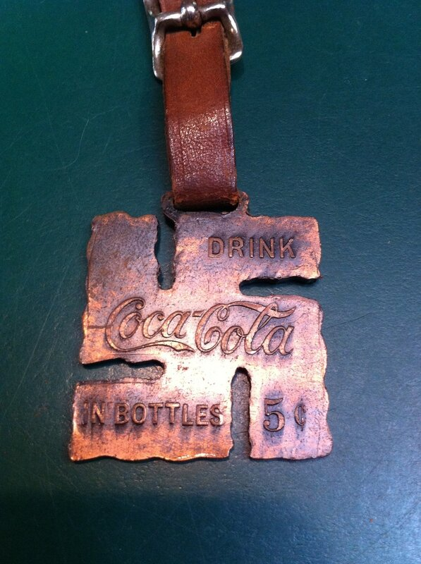 Coca-Cola swastika watch fob
