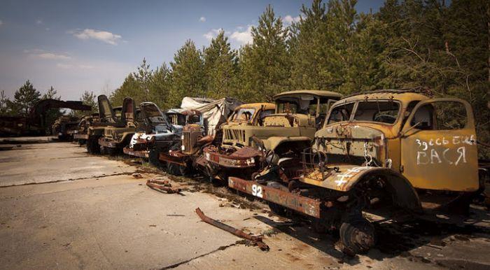 По Чернобылю на мотоцикле