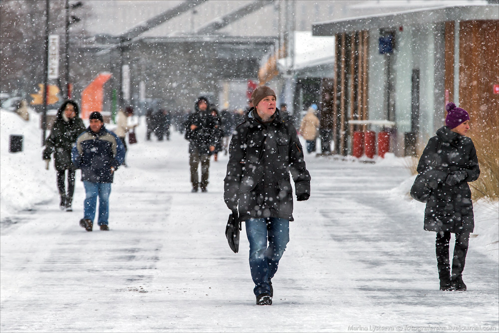 Снег в Москве