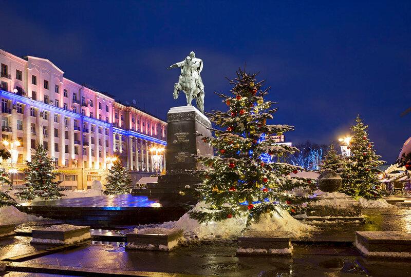 Новый год на площадях Москвы.