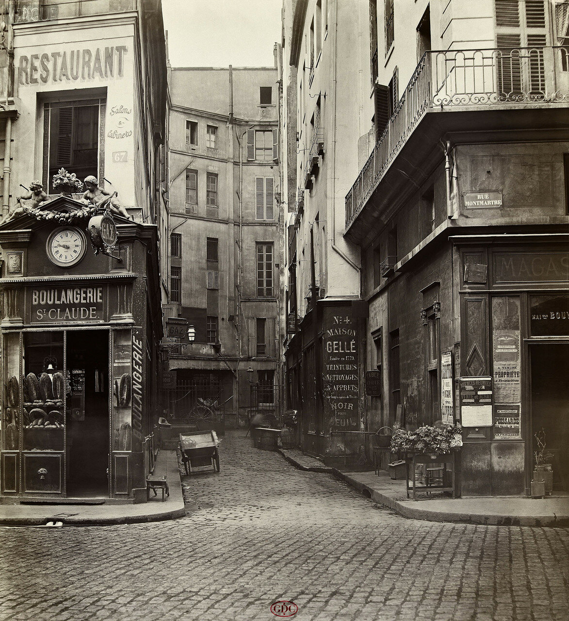 Тупик Сен-Клод. 1868