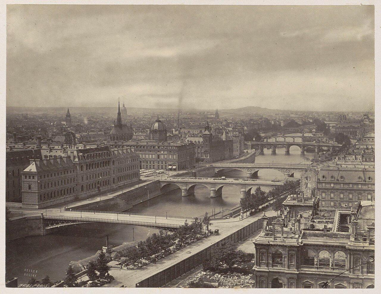 1870-е. Панорама Парижа