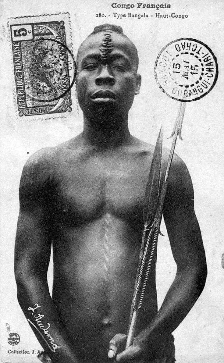 1930-е. Мужчина племени бангала. Верхнее Конго