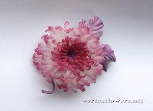 Мастер-класс. Хризантема из ткани «Изуми» от Vortex  0_fbf67_1047de01_M