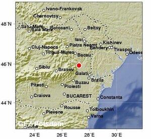 Землетрясение магнитудой 5,3 балла ощутили в Бельцах