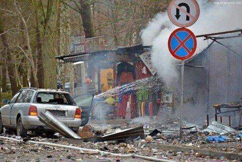 В польском городе взорвался торговый лоток с пиротехникой