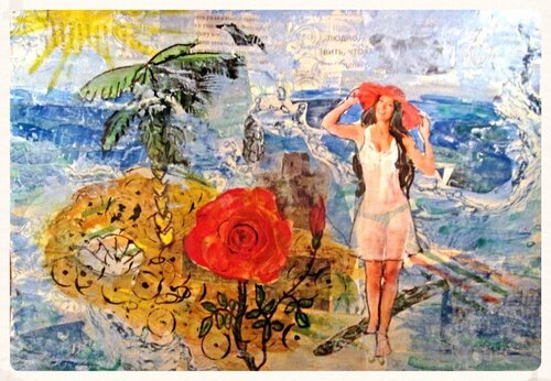море, остров, девушка