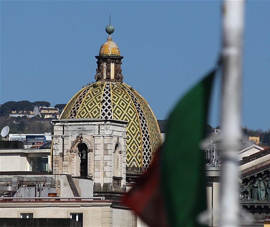 Naples. The dome of the Church of San Pietro Martire