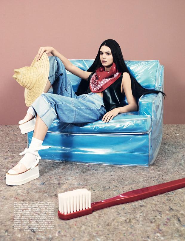 Кендалл Дженнер (Kendall Jenner) в журнале Dazed (11 фото)