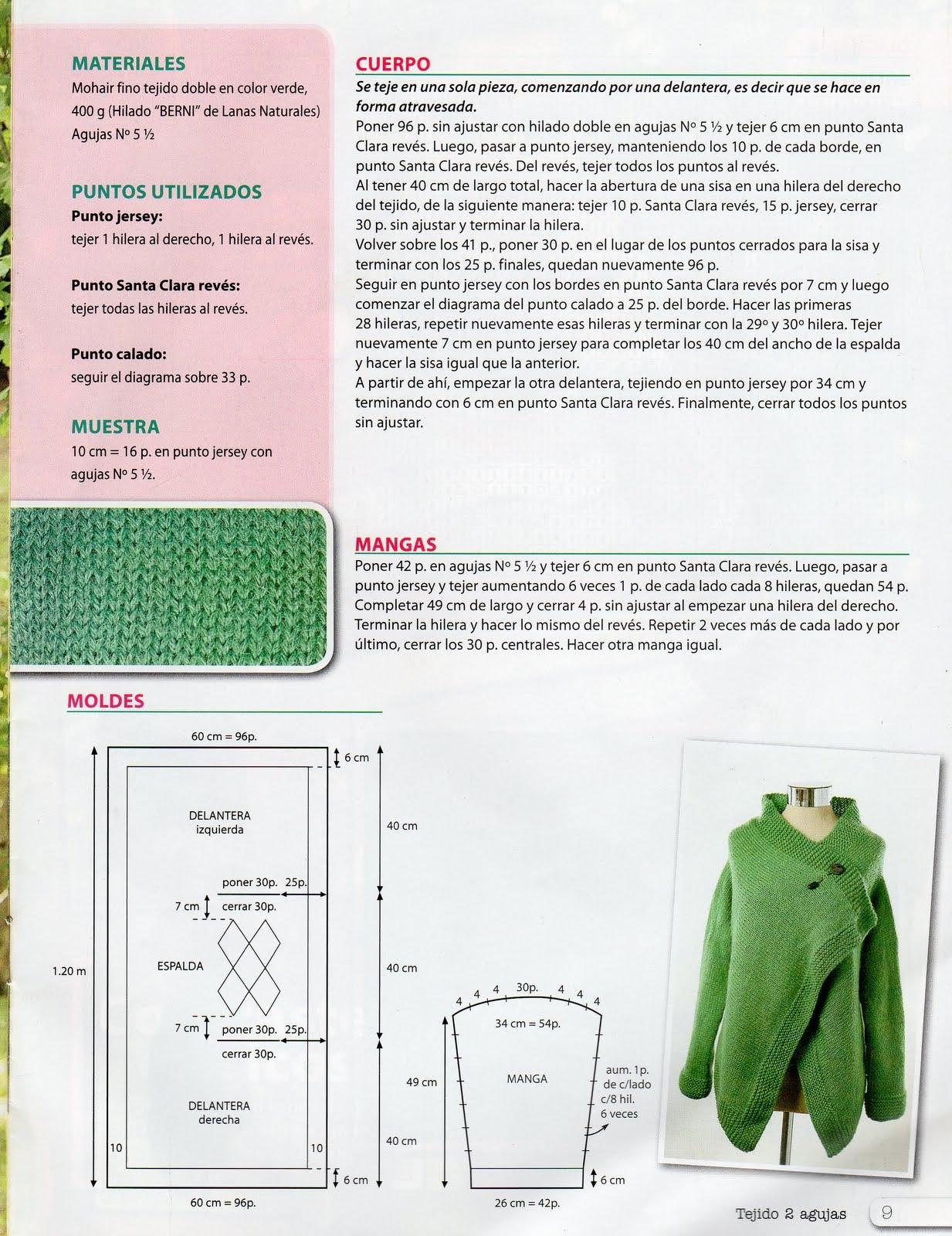 Зеленый кардиган с ажурной спинкой