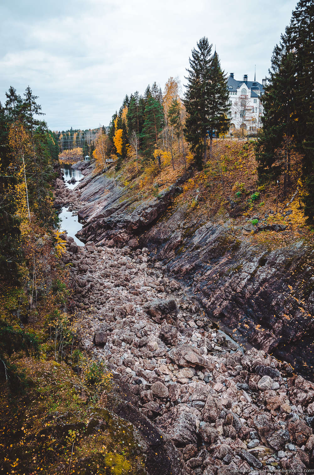 Иматра, Финляндия, Вуокса, Иматранкоски, замок в Иматре
