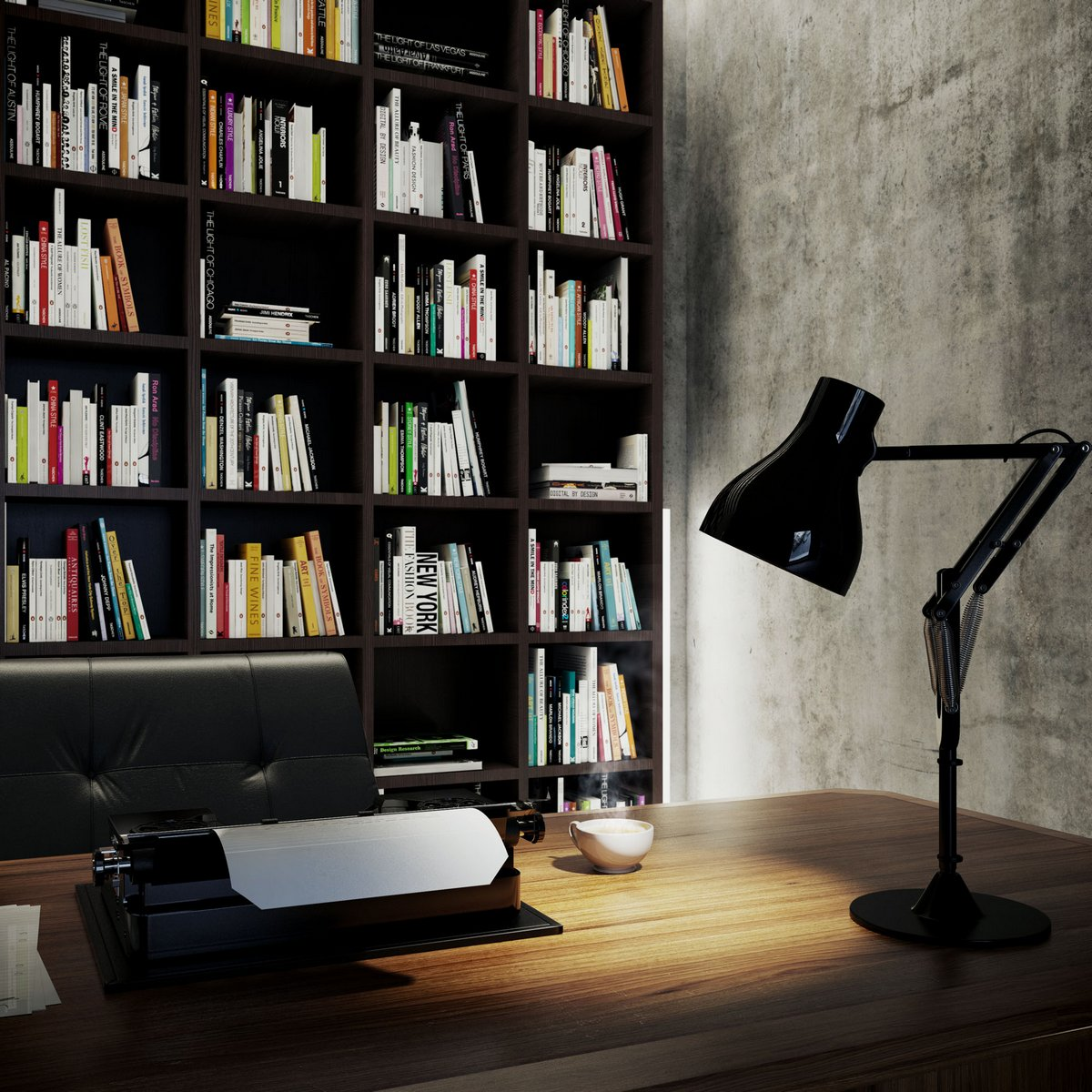Анжело Фернандес, Angelo Fernandes, визуализация интерьера, 3D визуализация интерьера, проект интерьера, дом писателя, интерьер квартиры для писателя