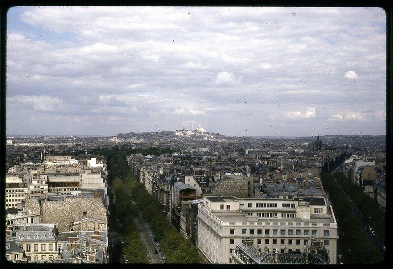 Jun 63 -  [Sacre Couer from L'Arc de Triomphe]
