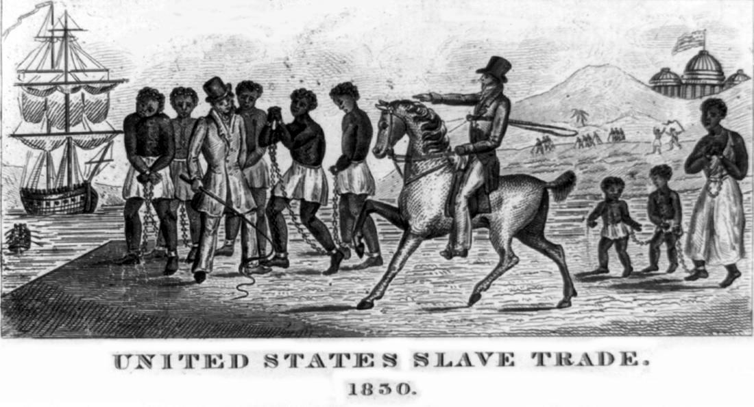 Внутренняя работорговля: США, штат Калифорния (1830 год)