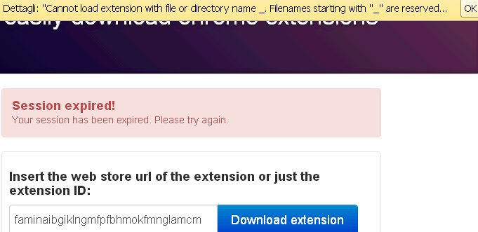 cannot load extension error