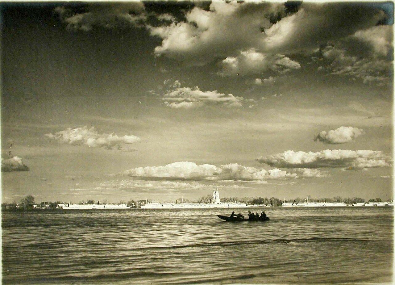 48. Вид на Труханов остров во время разлива р. Днепр
