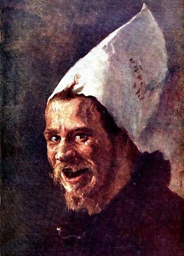 Автопортрет в шутовском колпаке, 1898, холст, масло, Бучкури Александр Алексеевич (1870-1942)