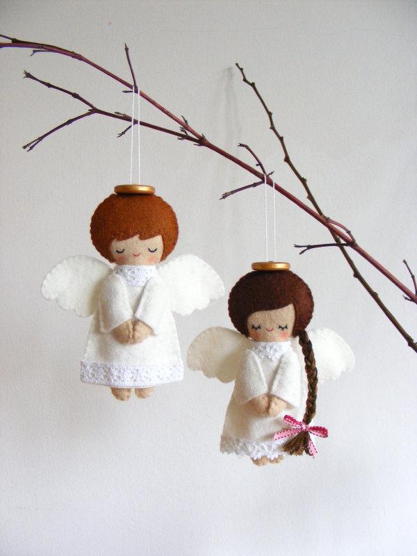 Елочная игрушка ангел своими руками