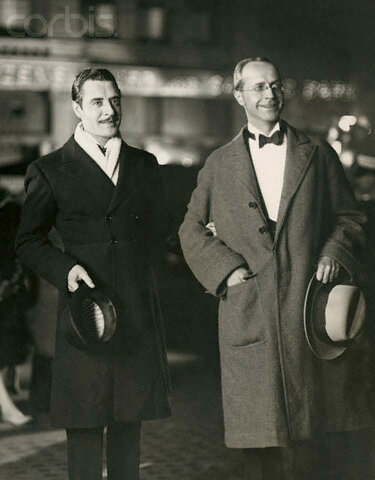 John Gilbert and Donald Ogden Stewart