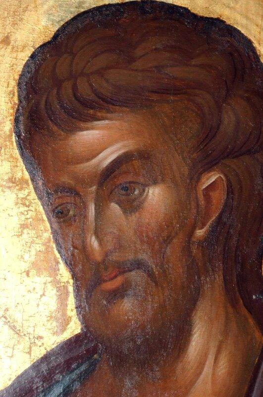 Святой Апостол и Евангелист Лука. Фрагмент иконы. Византия, 1360-е годы. Монастырь Хиландар на Святой Горе Афон.