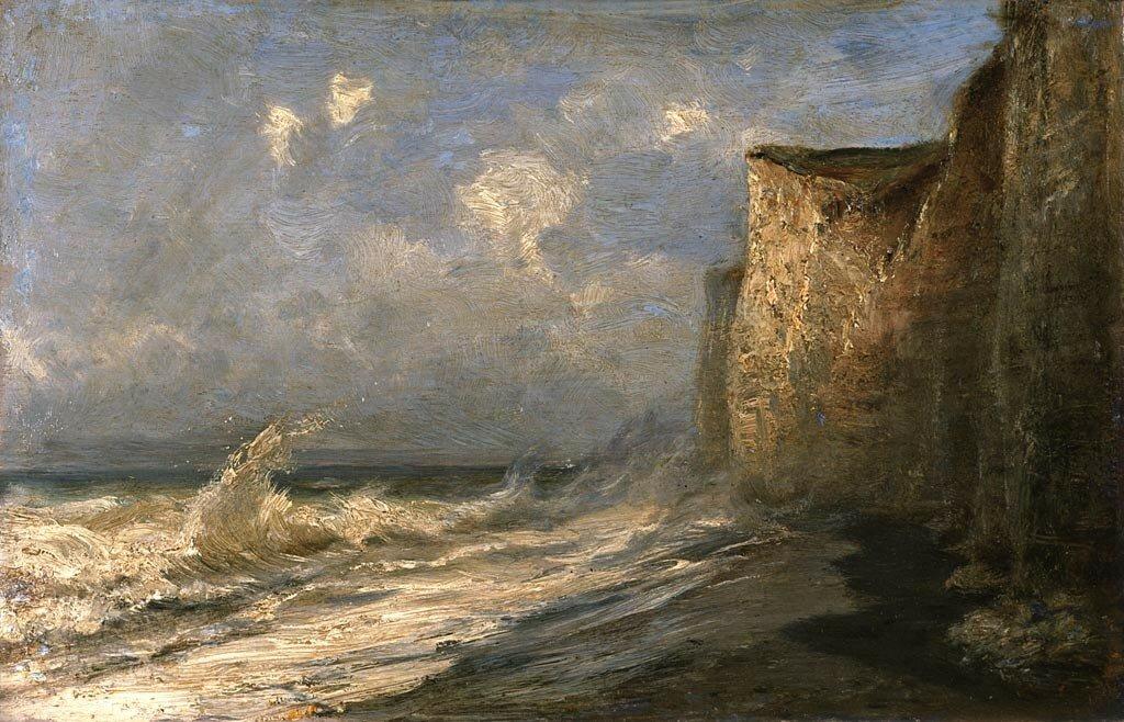 Алексей Петрович Боголюбов Этрет. Отлив (Франция)  [1887]