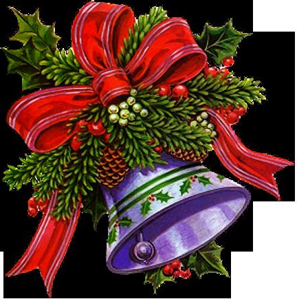 Телефон, колокольчики открытки на новый год