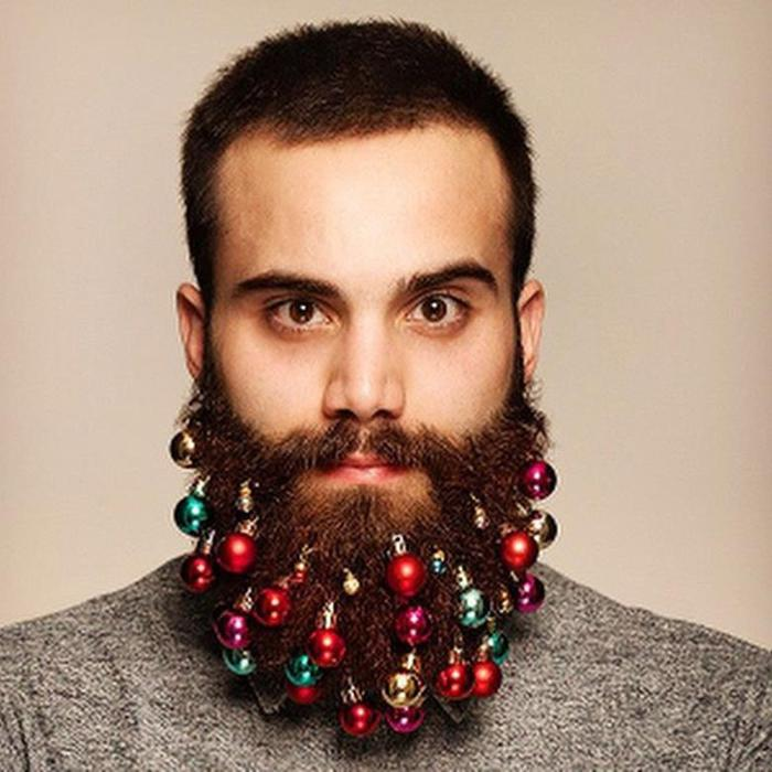 Как сделать новогоднюю елку из бороды