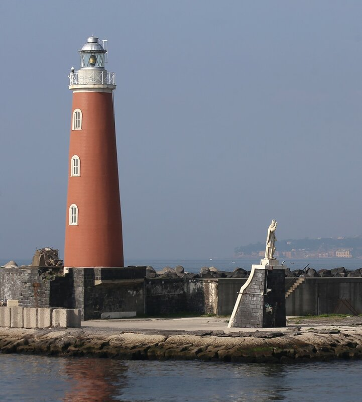 Naples. They say San Vincenzo, the lighthouse and the statue of St. Januarius.