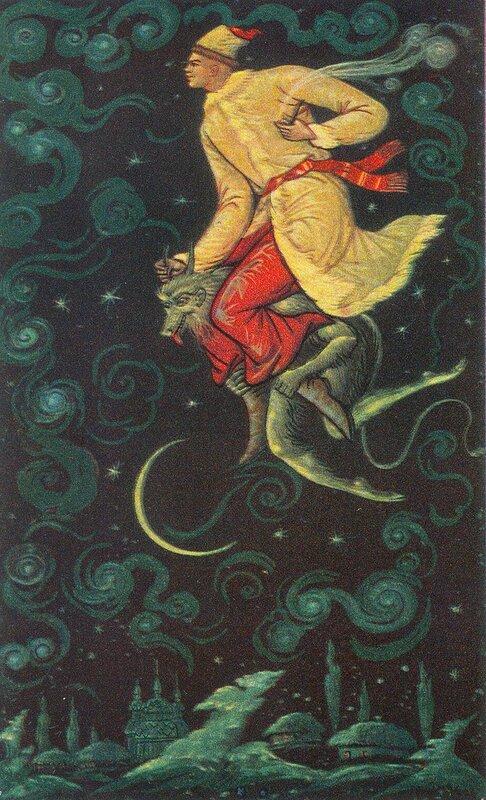 Николай Васильевич Гоголь - Ночь перед Рождеством - Палехский художник Александр Михайлович Куркин