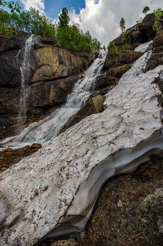 Водопад и снежник