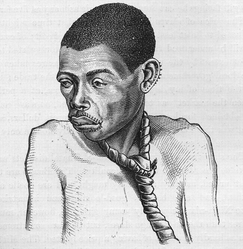 Порабощенная африканская женщина, (Восточный Судан, 1871 год)