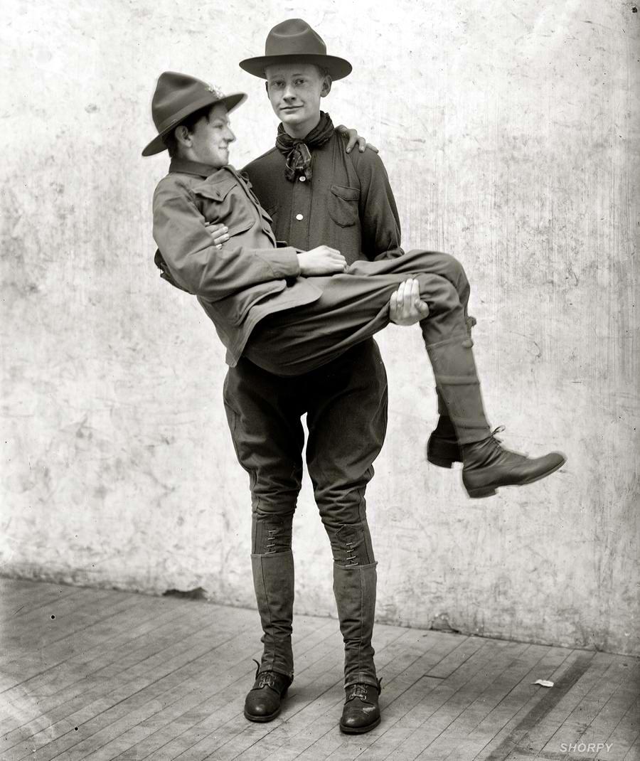 Американские бойскауты начала 20-го века на снимках фотографов (9)