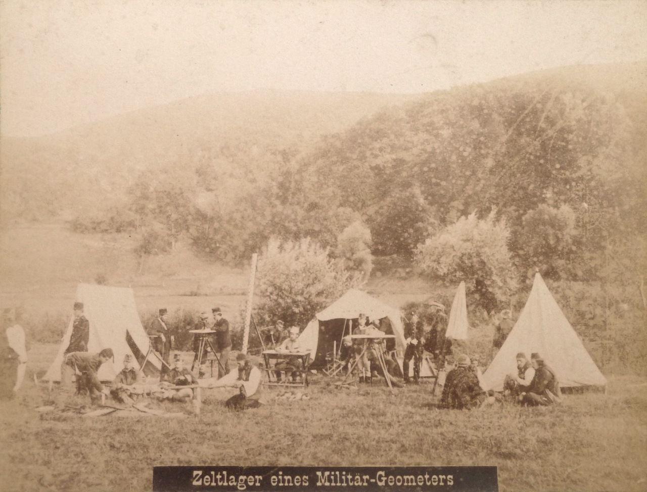 Лагерь геодезистов в Боснии