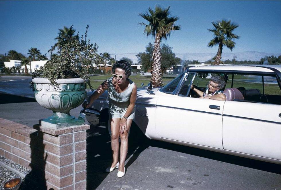 1960. Художница в бигуди. Палм-Спрингс