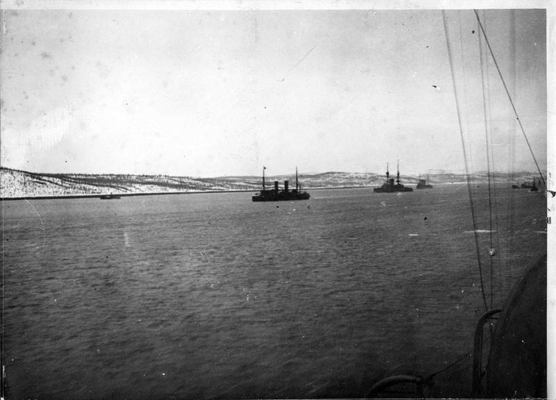 1918. Корабли в порту Мурманска