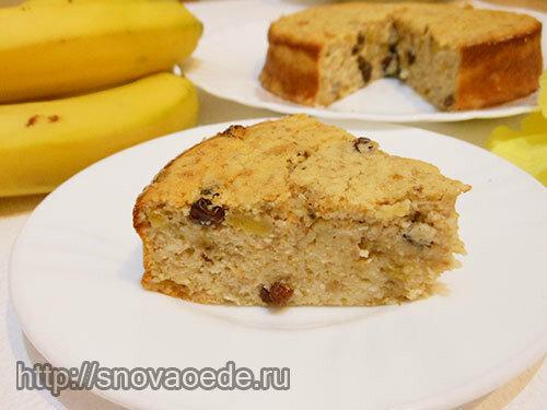 Бананово-творожный пудинг-запеканка – кулинарный рецепт