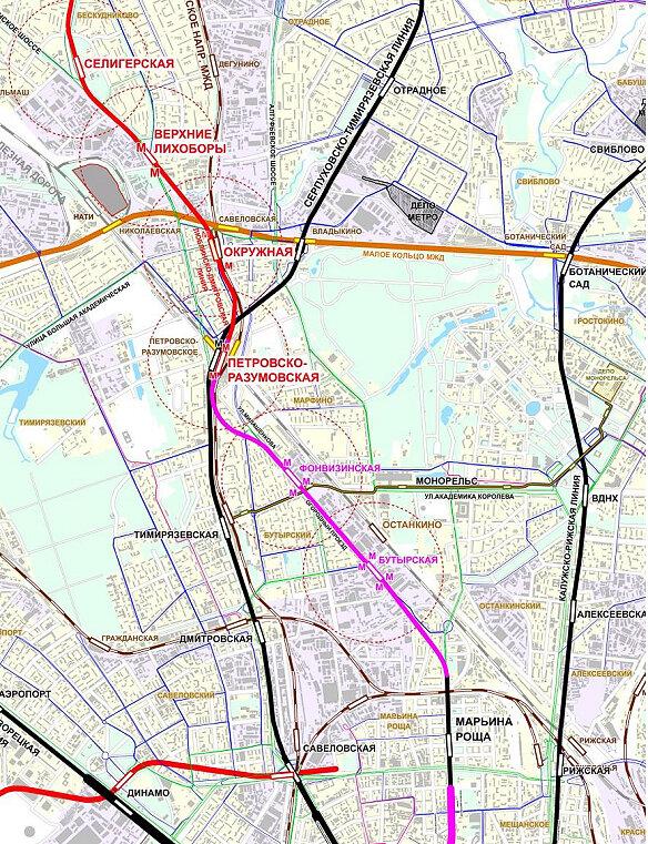 Изображение с сайта «Наш транспорт», схема ОАО «Метрогипротранс», 2010. Реализуется с изменениями