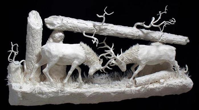Удивительные скульптуры из бумажной массы 0 115b78 610eab30 orig