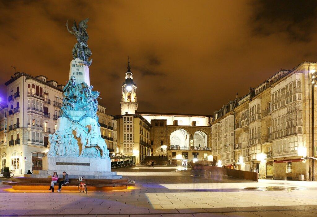 Vitoria-Gasteiz. The area of the White of the virgin (Plaza de la Virgen Blanca)
