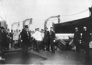 Встреча французского президента Раймона Пуанкаре на яхте.