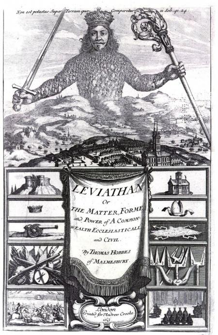 Книга Левиафан,  Томас Гоббс  (1651)