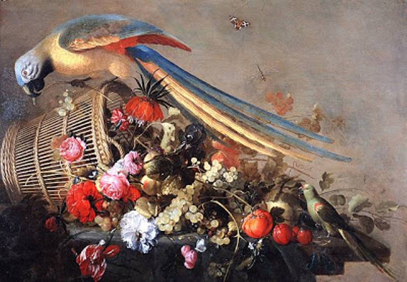 6 17 Cornelis de Heem (Dutch Baroque Era Painter, 1631-1695) Still Life with Bird.jpg