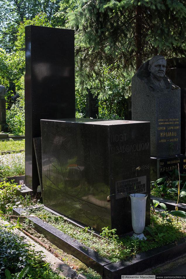 Николай Алексеевич Заболоцкий на Новодевичьем кладбище