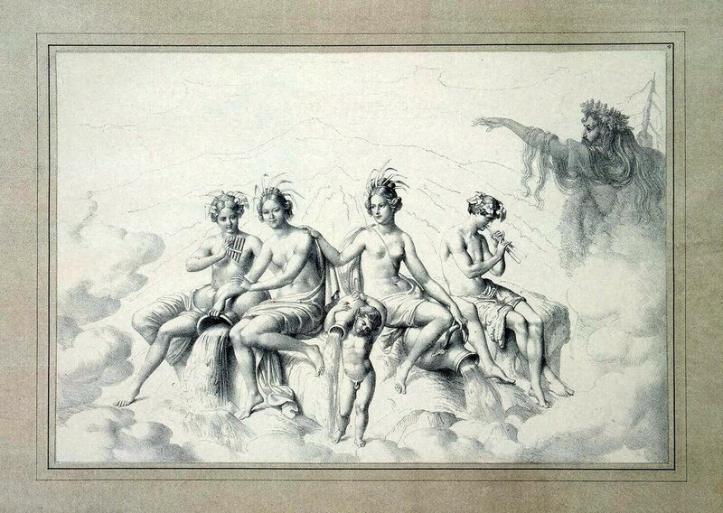 Юлиус Шоппе Старший, Живые картины, Речные нимфы и Рюбецаль, Эрмитаж