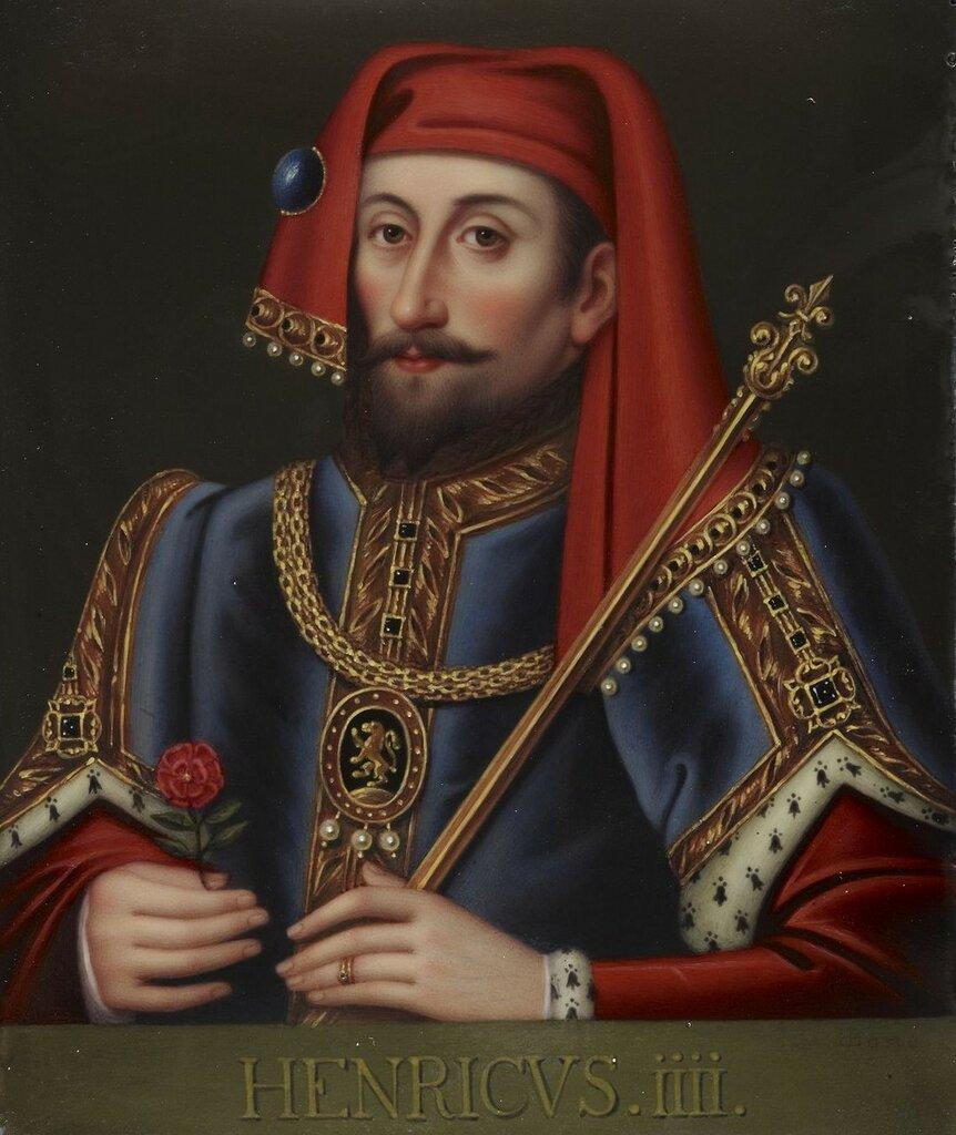 Генрих IV (1367-1413)  Подпись и дата 1815 Эмаль на меди