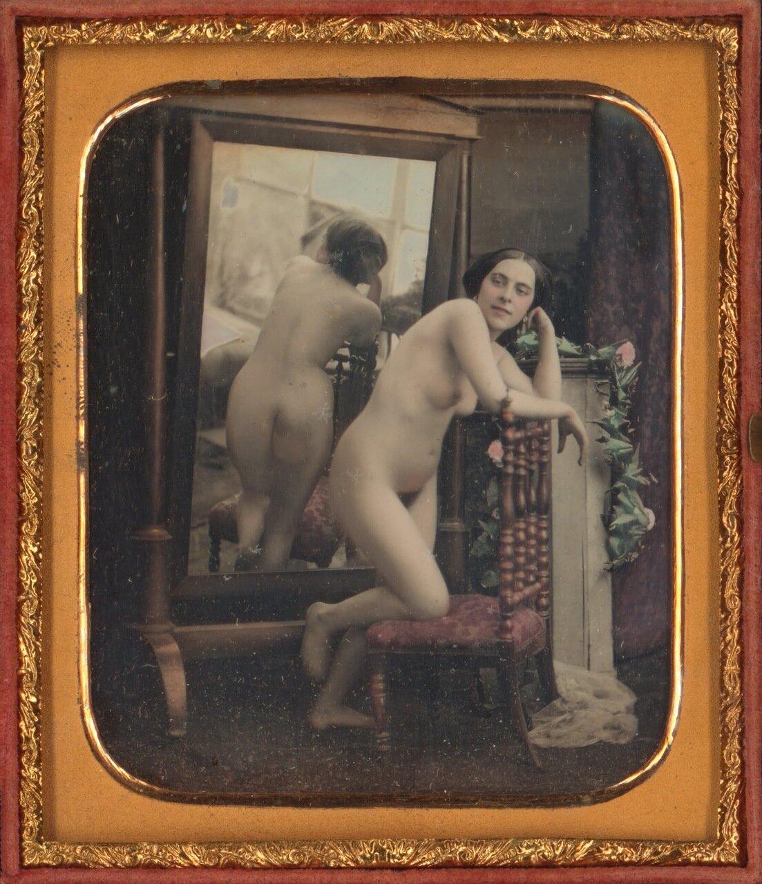 1851. Обнаженная у зеркала