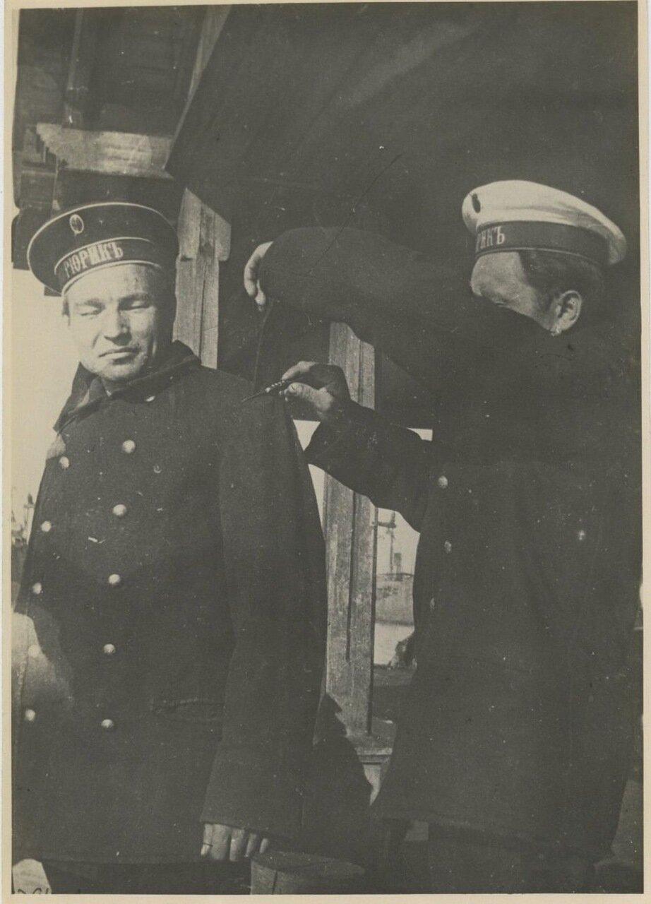 1917. Срезание погон. Балтийский флот. Броненосный крейсер «Рюрик»
