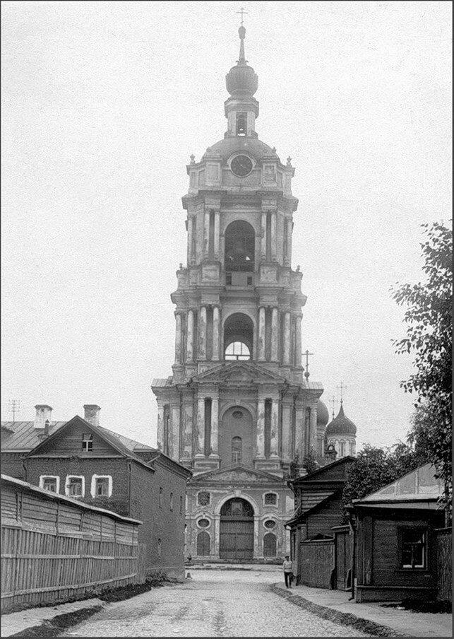 1920-е. Колокольня Новоспасского монастыря