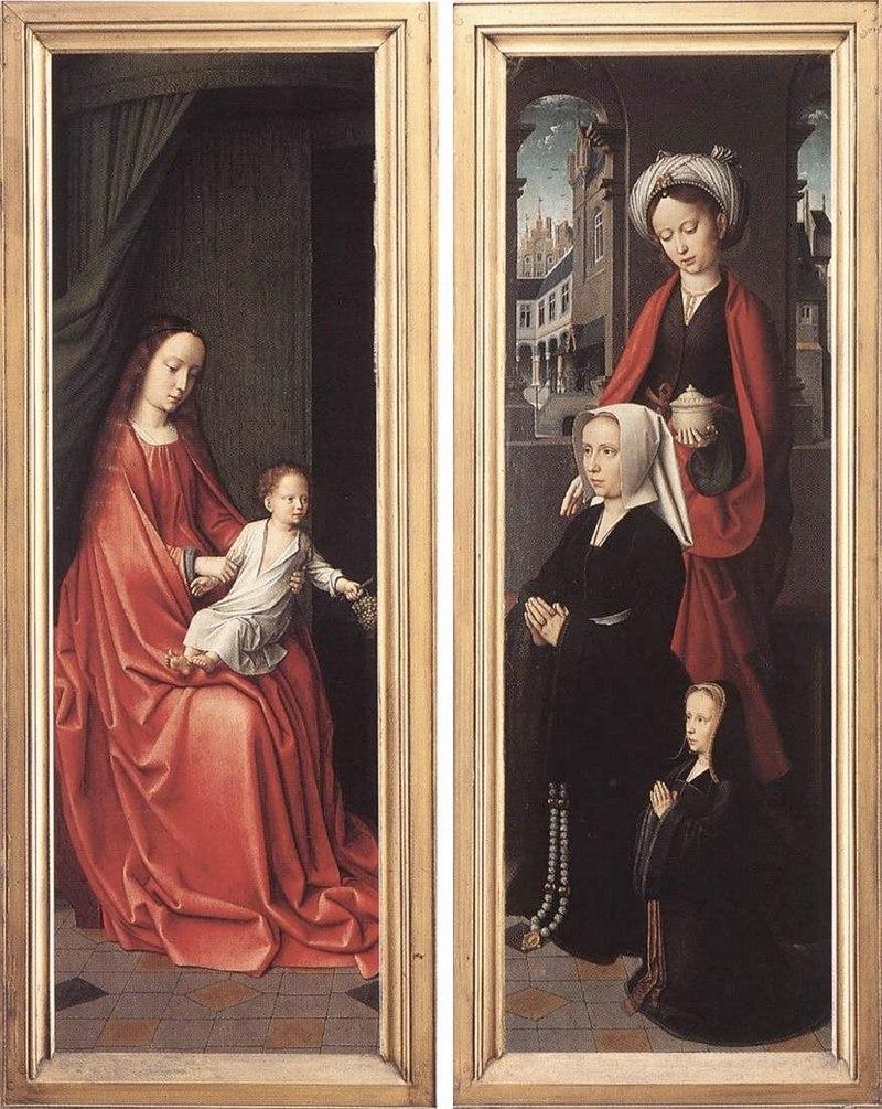 """Жерард Давид. """"Крещение Иисуса"""" 1520 задние створки"""